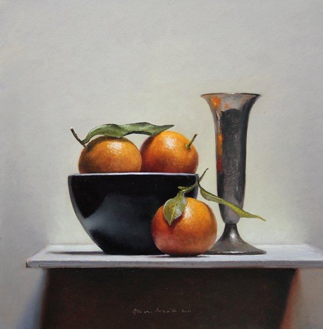 Stilleven met mandarijntjes, 2011