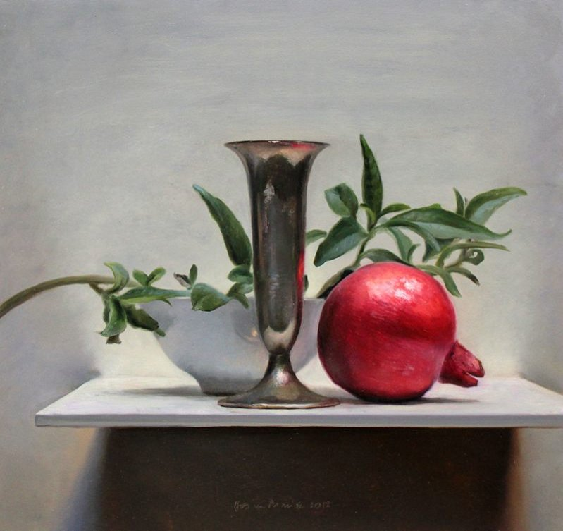 Stilleven met granaatappel, 2012
